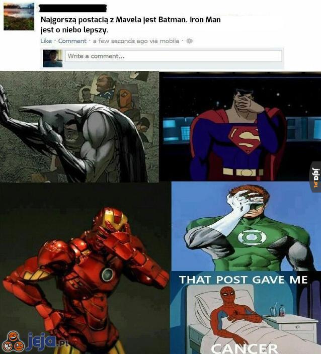 Najlepsza postać z Marvela
