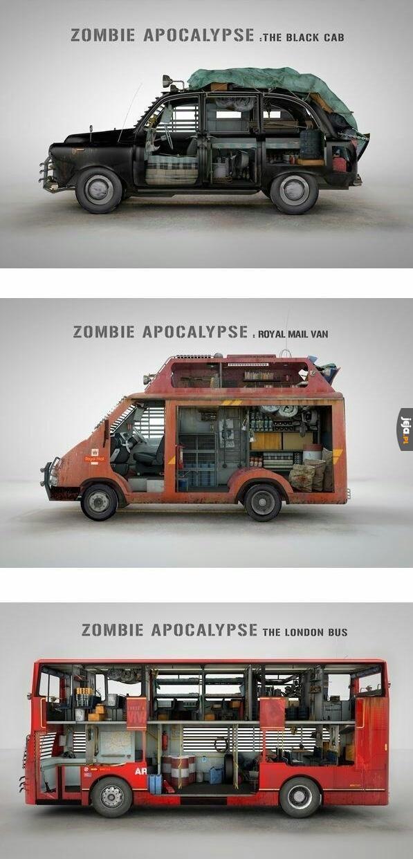 Auta na wypadek apokalipsy zombie