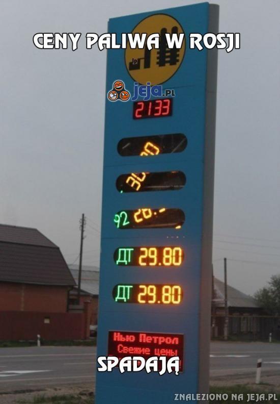 Ceny paliwa w Rosji