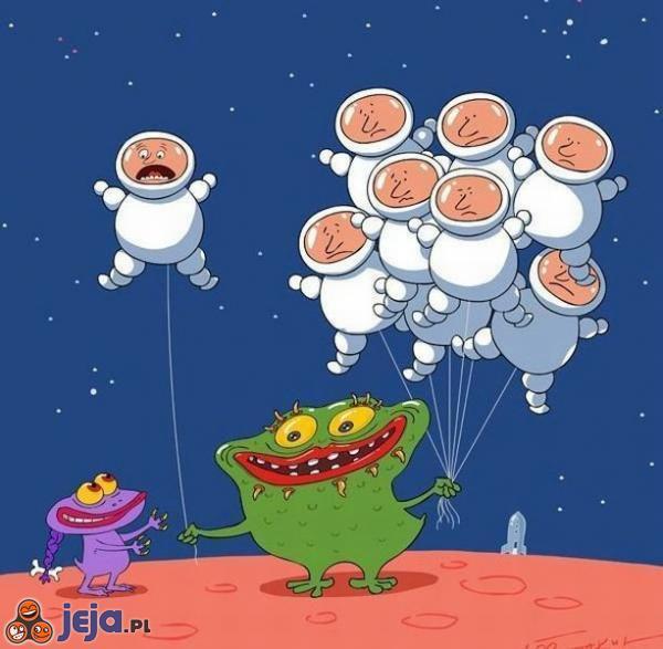 Balony na Marsie