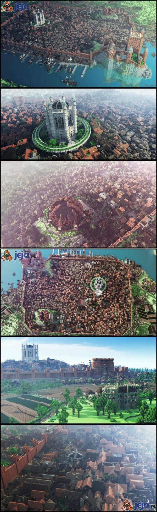 King's Landing z Gry o Tron w Minecrafcie