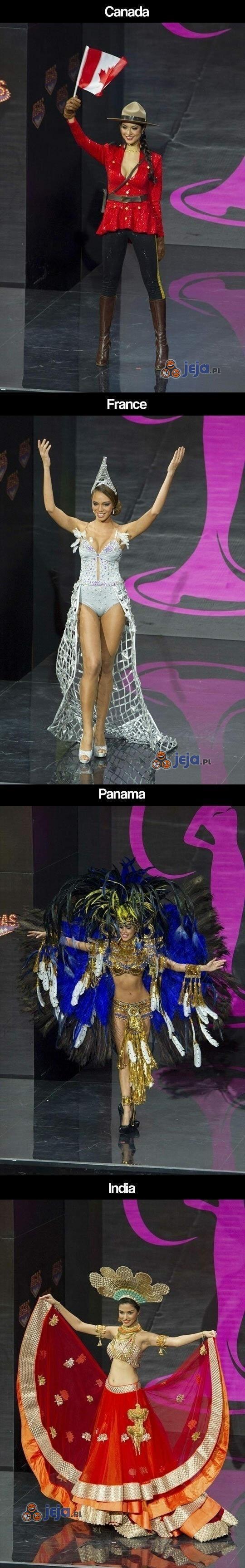Miss Universe w narodowych strojach