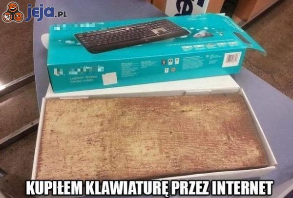 Kupiłem klawiaturę przez Internet