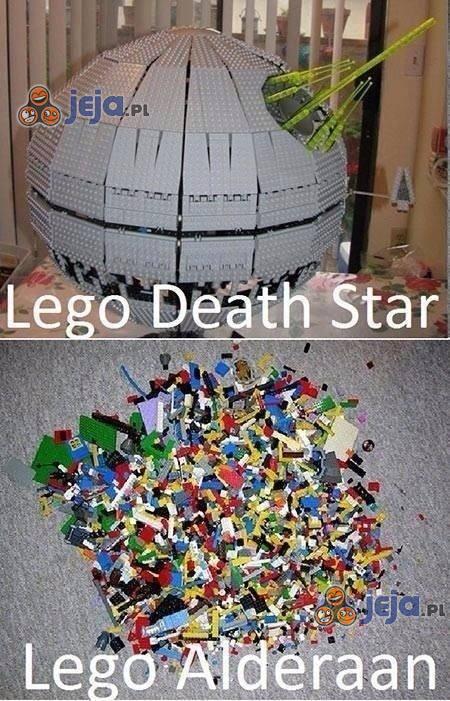Gwiazda Śmierci vs Alderaan