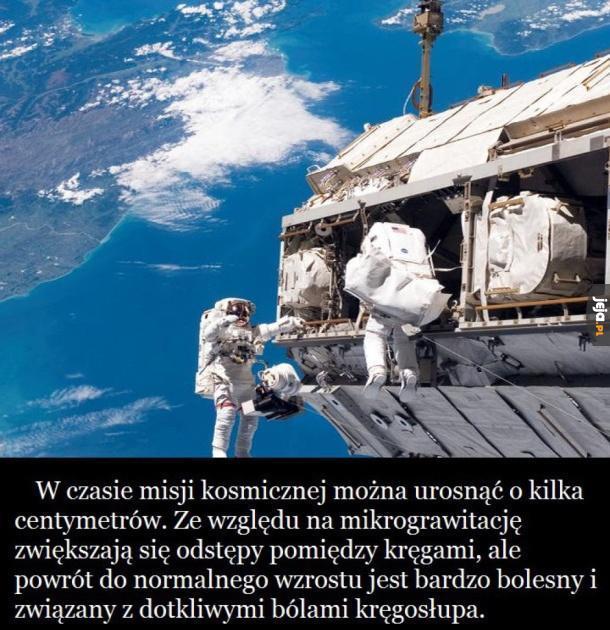 A chciałem być kosmonautą...