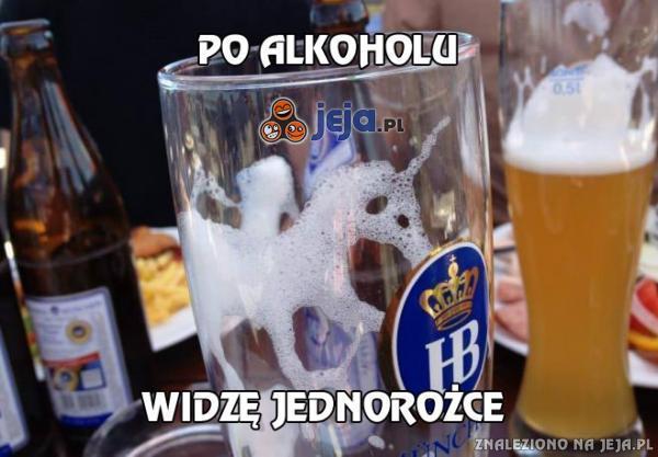 Po alkoholu widzę jednorożce