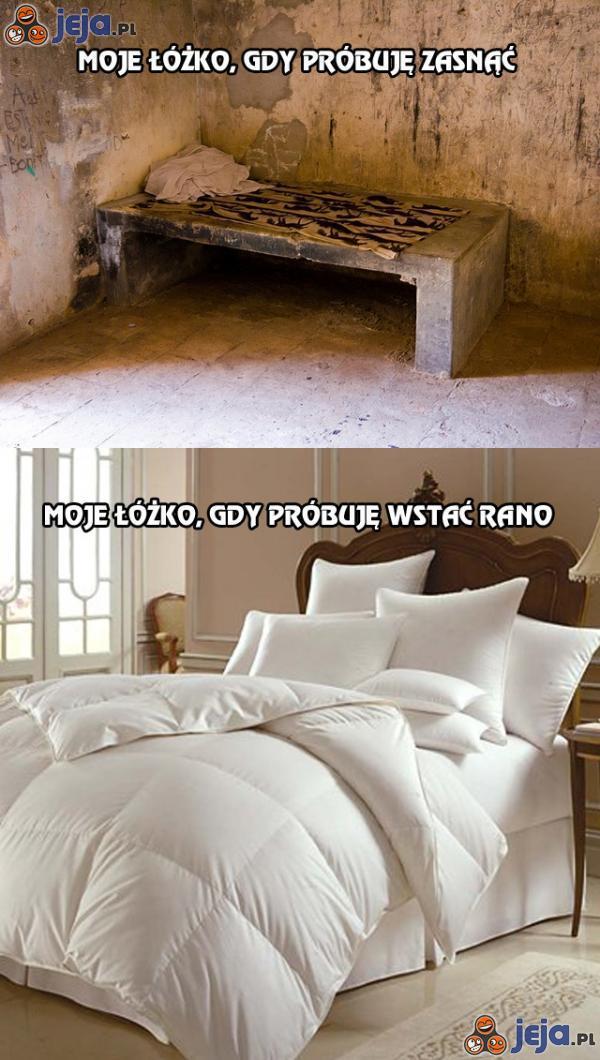 Moje łóżko, gdy próbuję zasnąć