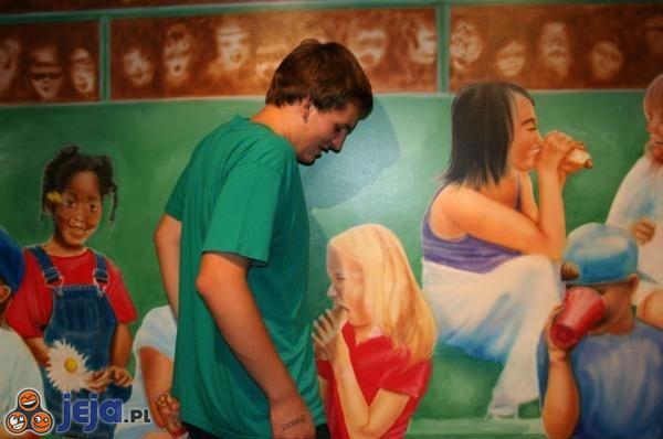 Niefortunny malunek na ścianie