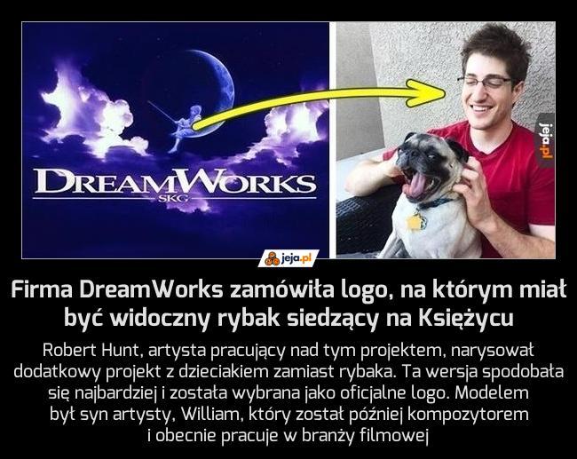 Firma DreamWorks zamówiła logo, na którym miał być widoczny rybak siedzący na Księżycu