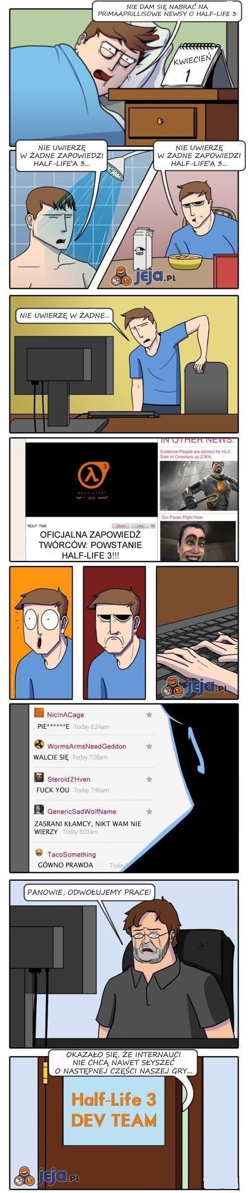 Dlaczego NAPRAWDĘ nie będzie trzeciego Half-Life'a?