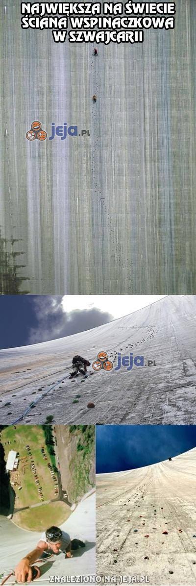 Największa na świecie ściana wspinaczkowa w Szwajcarii