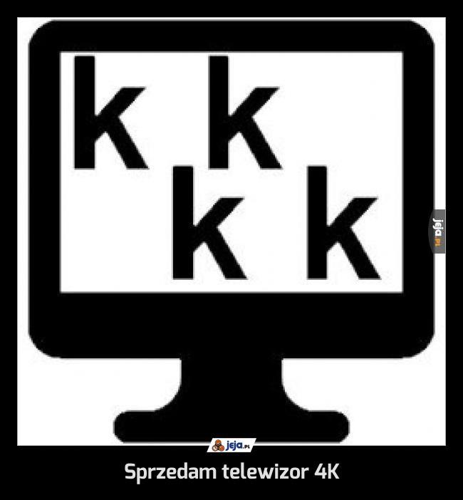 Sprzedam telewizor 4K