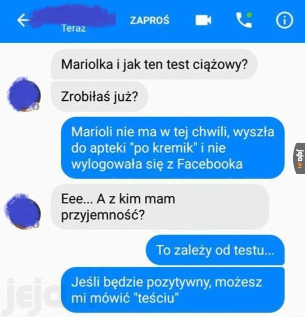Mariolka, i jak ten test?