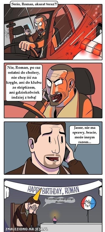 Biedny Roman...