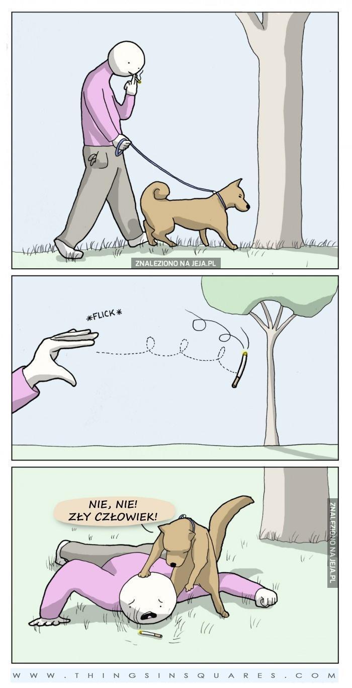 Nie wyrzucaj w lesie niedopałków!