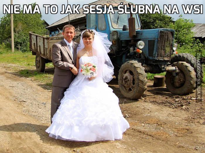 Nie ma to jak sesja ślubna na wsi