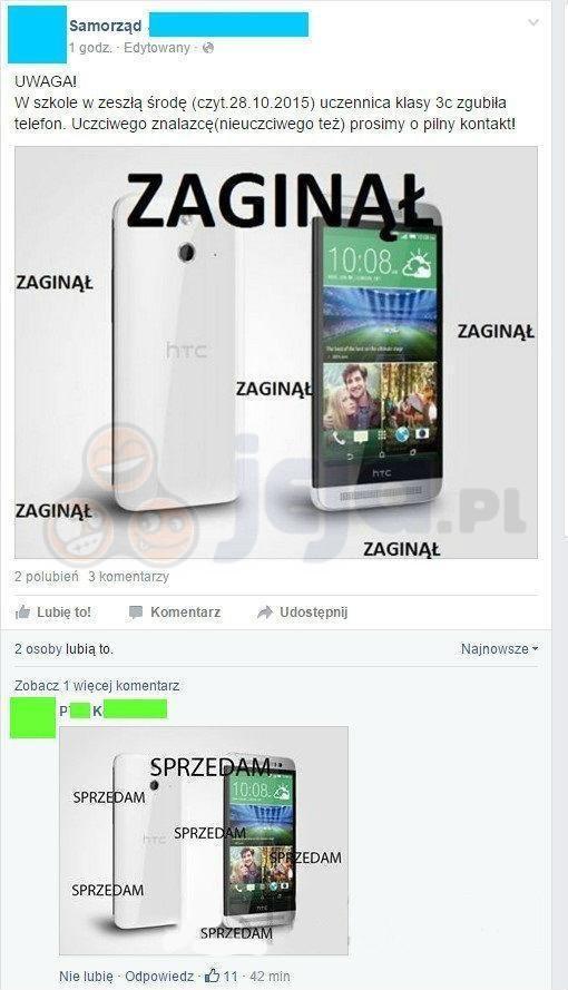 Zagubiony telefon