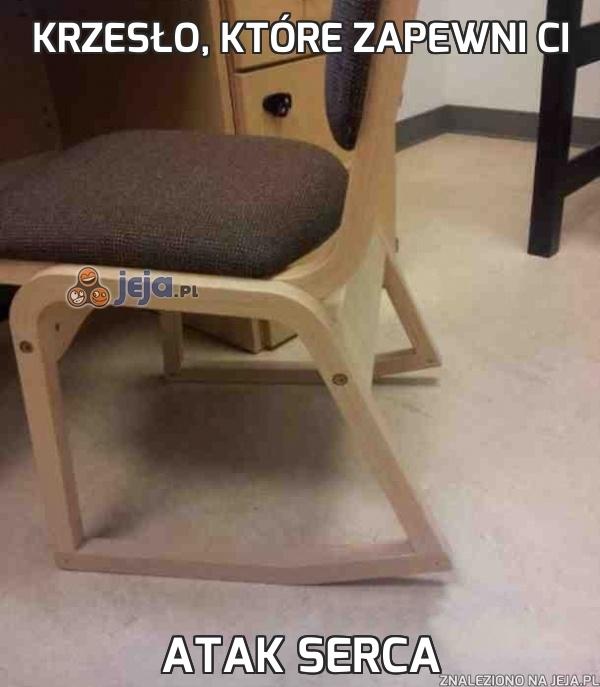 Krzesło, które zapewni Ci