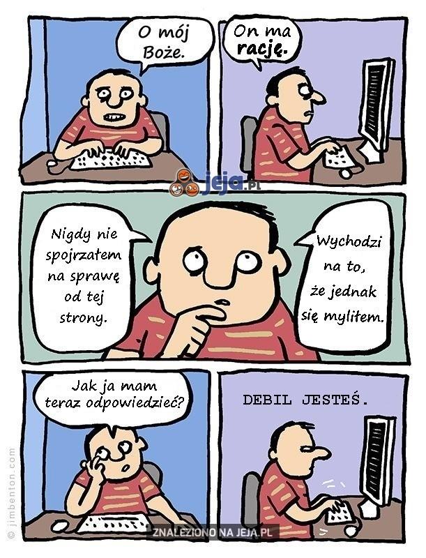 Jak przyznać komuś rację w internecie