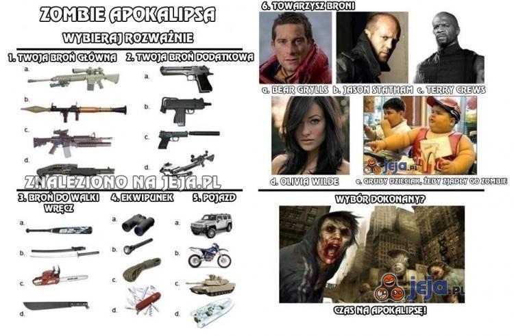 Zombie apokalipsa - wybieraj rozważnie