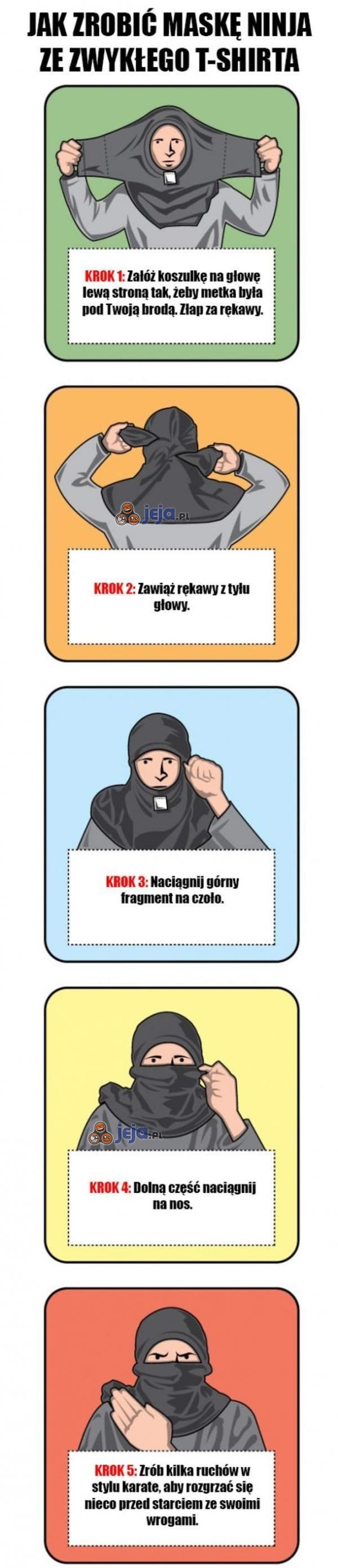 Sposób na maskę ninja!