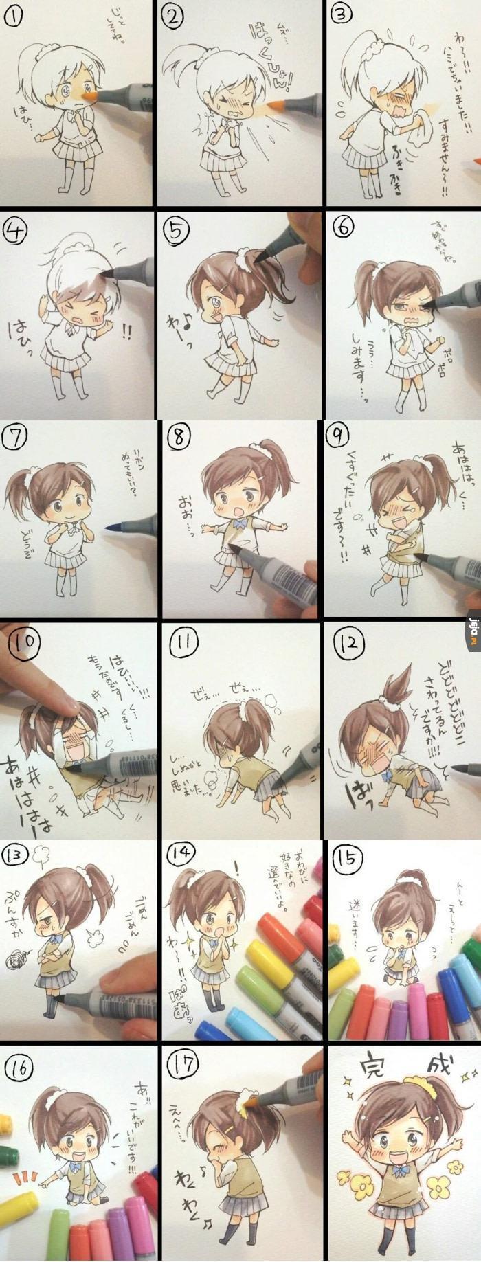 Jak narysować postać z mangi