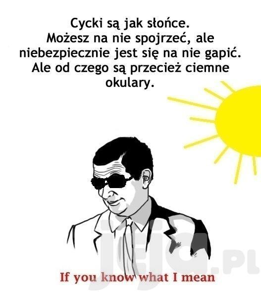 Cycki i słońce