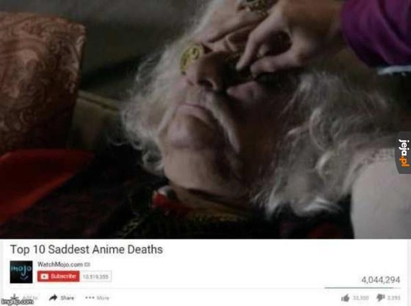 Najsmutniejsze śmierci z anime