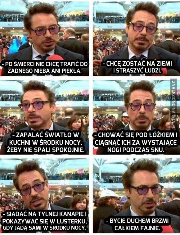 Robert Downey Jr. będzie straszyć