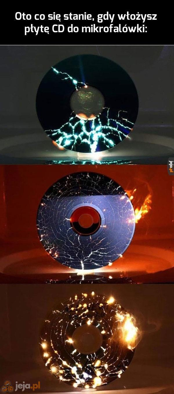 CD w mikrofali