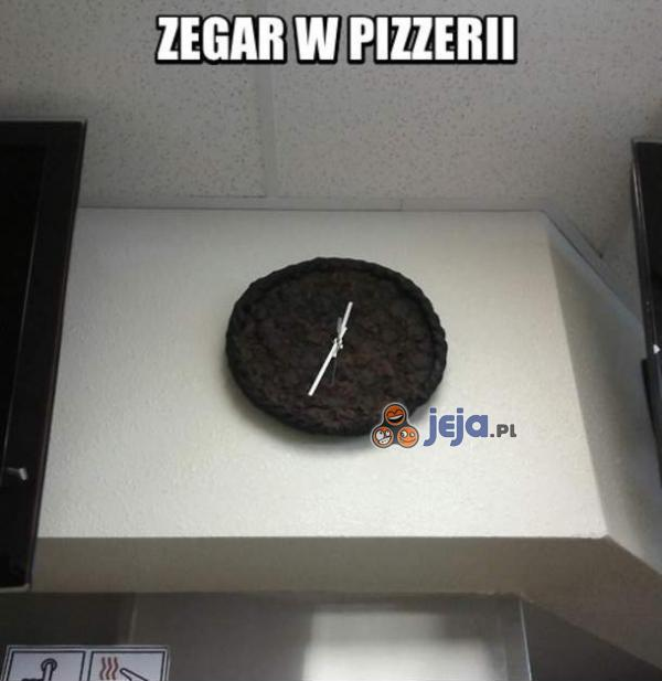 Zegar w pizzerii