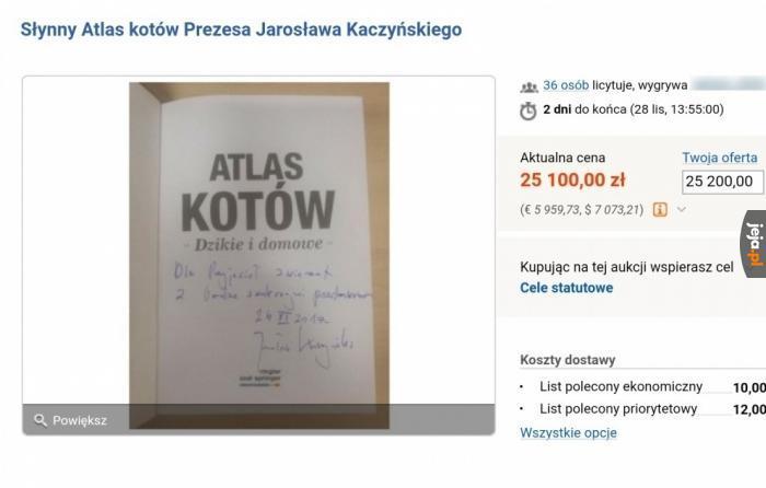 Słynna książka na sprzedaż