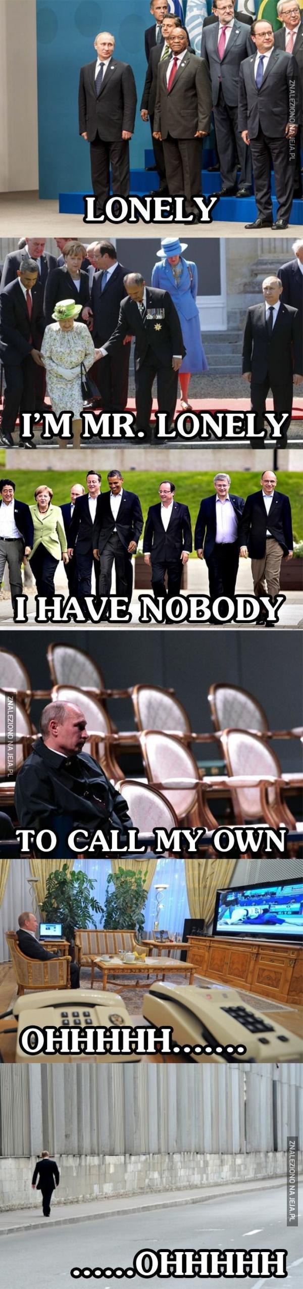 Samotny Putin...