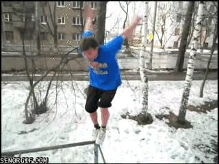 Salto na śniegu