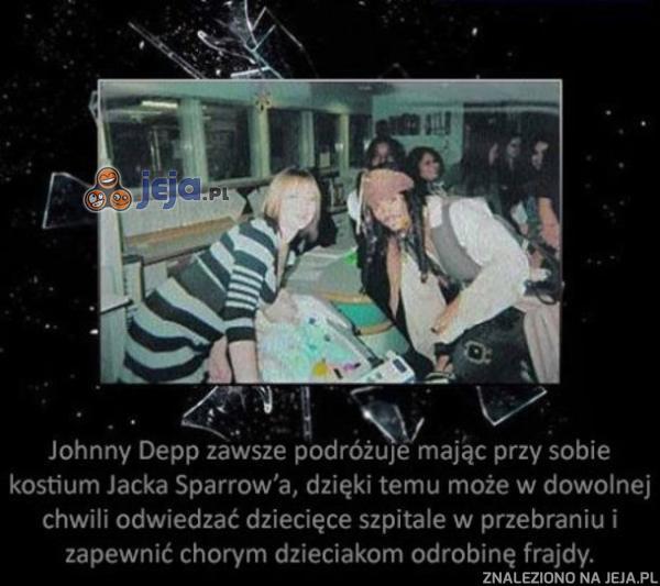 Johnny Depp to równy gość