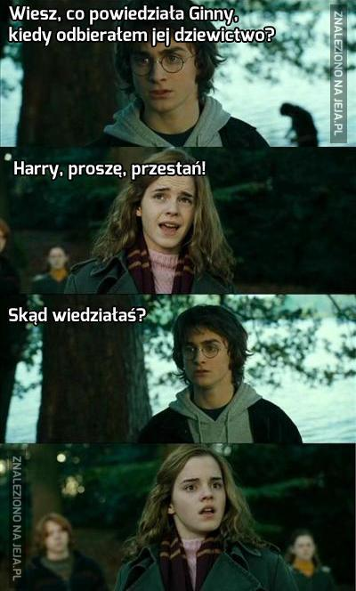 Harry Potter nie znosi odmowy