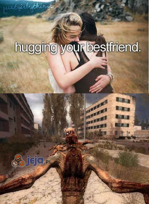 Przytulanie najlepszego przyjaciela