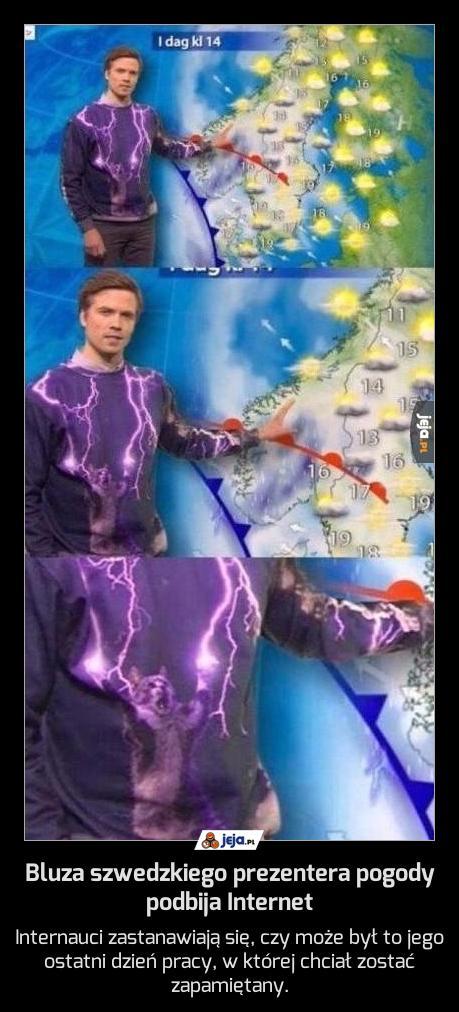 Bluza szwedzkiego prezentera pogody podbija Internet