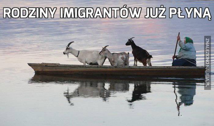 Rodziny imigrantów już płyną