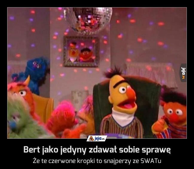 Bert jako jedyny zdawał sobie sprawę