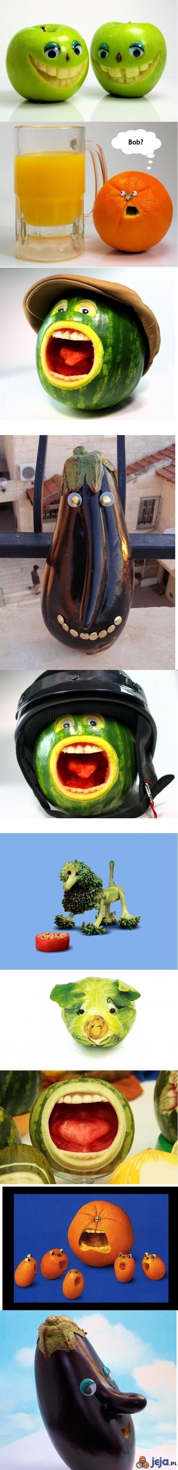 Owoce i warzywa na wesoło