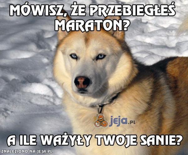 Och, przebiegłeś maraton?