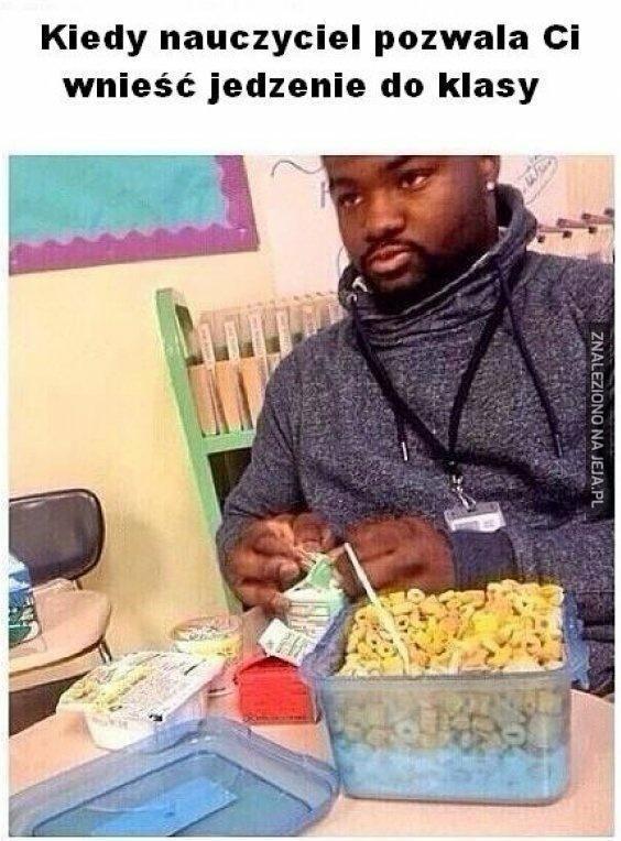 Jedzenie w klasie