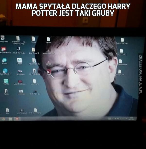 Mama spytała dlaczego Harry Potter jest taki gruby