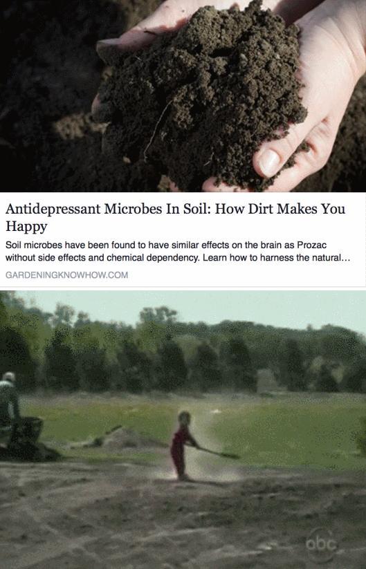 Ziemia to wspaniały antydepresant