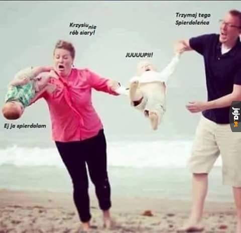 Rodzinny wypad na plażę