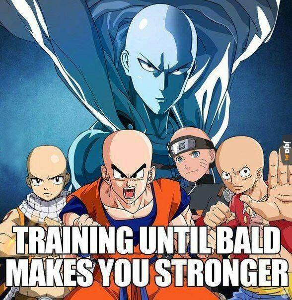 Trenuj aż wyłysiejesz!