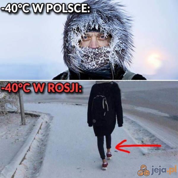 Zima w Polsce vs w Rosji