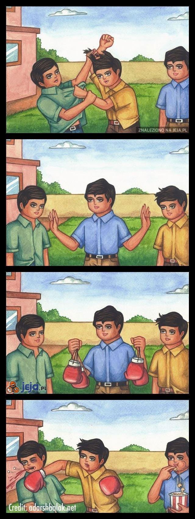 Kiedy kłócą się dwie osoby, których nie lubię