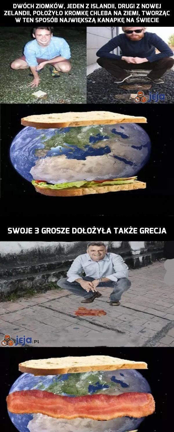 Największa kanapka na świecie